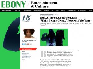 Ebony Dot Com rawcus rapper post up